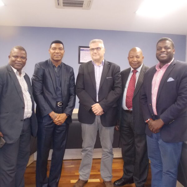 2017- Ex Nigerian Football Star Peter Rufai meets with the Management of AGL to promote sports for Children.
