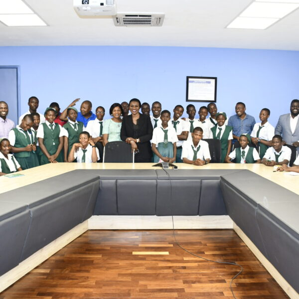 2019-Apapa Senior High School on an excursion meets with the GMD