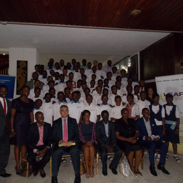 2013- A.G.L-Leap Africa, training on Leadership, Ethics & Civic duties for Birrel College