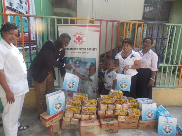 2015-Presentation of support items to Red Cross Society Orphanage home.